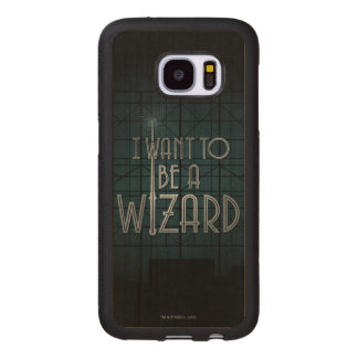I Want To Be A Wizard Wood Samsung Galaxy S7 Case