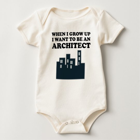 I Want To Be An Architect Baby Bodysuit
