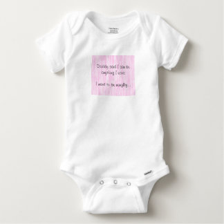 I Want To Be Naughty Baby Onesie