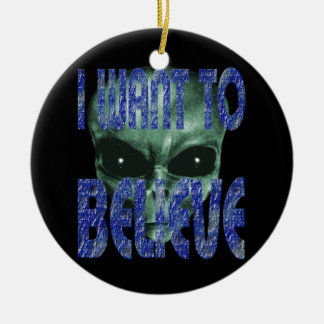 I Want To Believe 2 Christmas Ornament