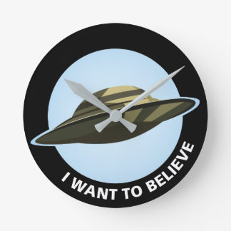 I Want To Believe Acrylic Wall Clock
