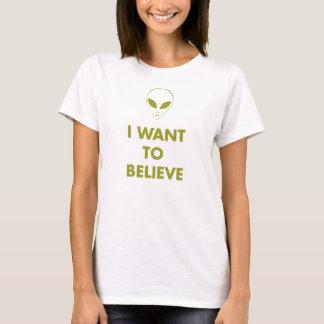 I Want To Believe (alien green) T-Shirt