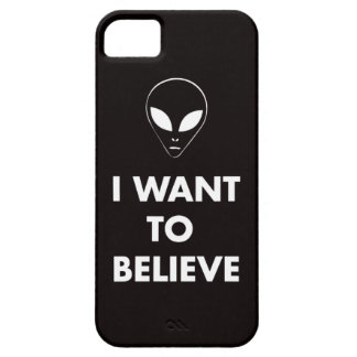 I Want To Believe (black) iPhone 5 Cover