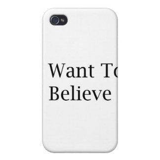 I Want To Believe iPhone 4 Cover