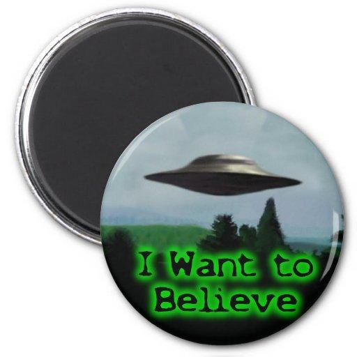 I want to believe fridge magnet