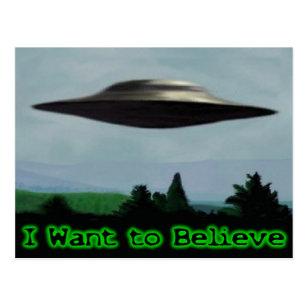 I want to believe postcard