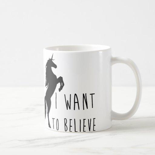 Image of I Want To Believe Unicorn Mug