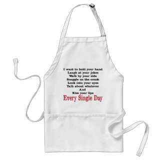 I want to hold your hand standard apron