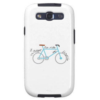 I Want To Ride My Bicycle Samsung Galaxy SIII Covers