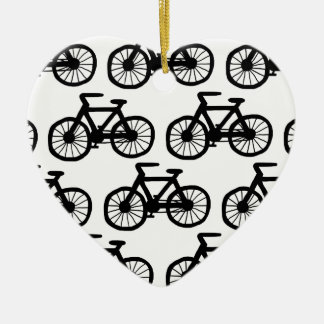 I Want to Ride my Bicycle Ceramic Heart Decoration