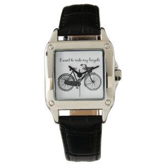 """""""I want to ride my Bicycle"""" Inspirational Quote Watch"""