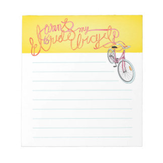 I want to ride my bicycle - lined notepad
