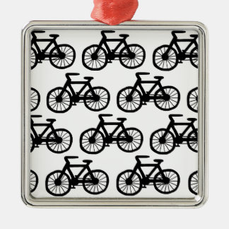 I Want to Ride my Bicycle Silver-Colored Square Decoration