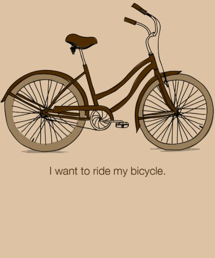 I want to ride my bicycle. Trendy Browns Shirt