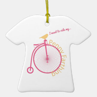 I Want To Ride My... Double-Sided T-Shirt Ceramic Christmas Ornament