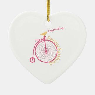 I Want To Ride My... Ceramic Heart Decoration