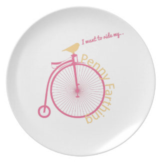 I Want To Ride My... Party Plates
