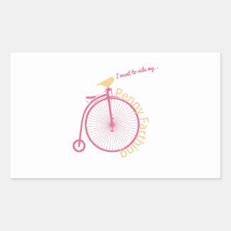 I Want To Ride My... Rectangular Sticker