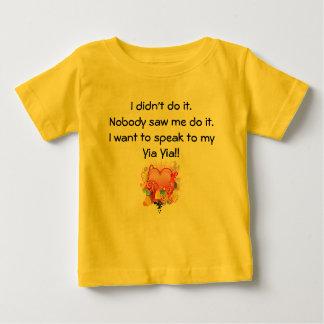 I want to speak to Yia Yia - Retro Heart Baby T-Shirt