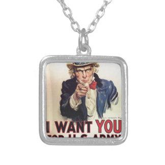 I want you custom necklace