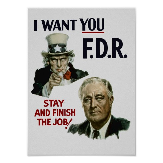 I Want You FDR -- Uncle Sam WWII
