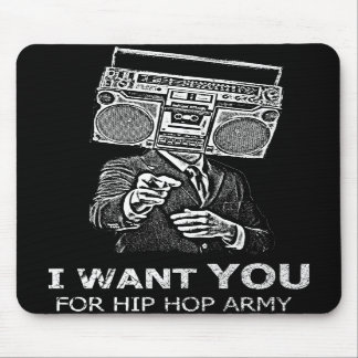 I want you for hip-hop army mouse pad