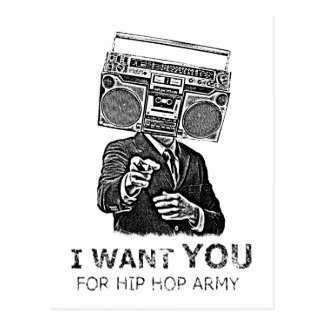 I want you for hip-hop army post card