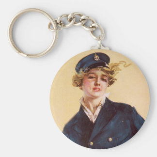 I want you for the Navy Basic Round Button Key Ring