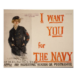 I Want You for the Navy Poster