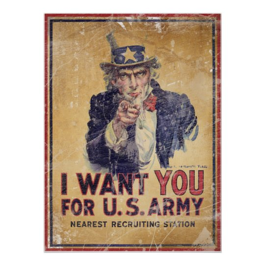 I Want You for the U.S. Army Poster