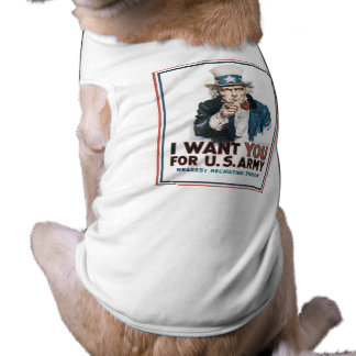 I Want You For the United States Army Dog Shirt