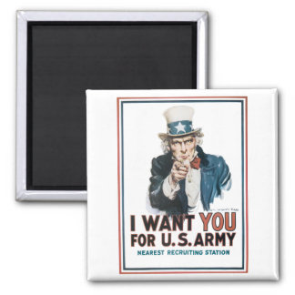 I Want You For the United States Army Refrigerator Magnets