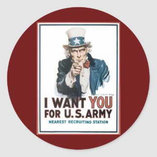 I Want You For the United States Army Stickers