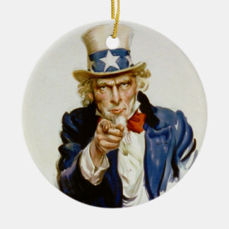 I Want You for U.S. Army by James Montgomery Flagg Christmas Ornament