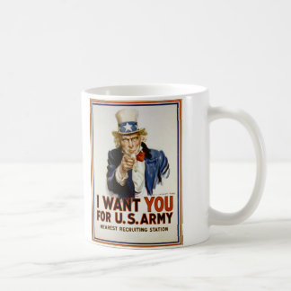 I Want You for U S Army by James Montgomery Flagg Coffee Mugs