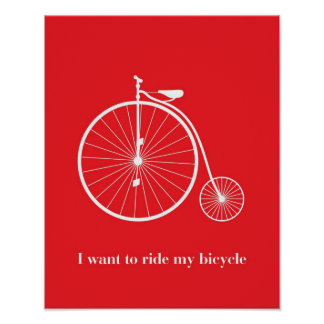 I want you laugh my bicycle poster