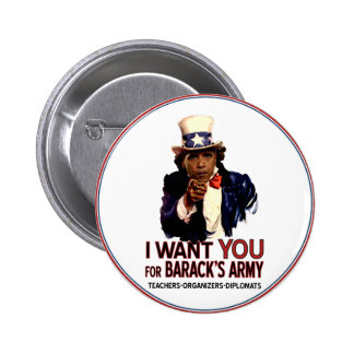 I Want You - Obama Political Button