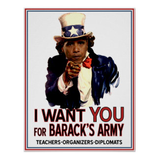 I Want You - Obama Political Poster