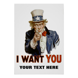 """i want you"" personalized poster"