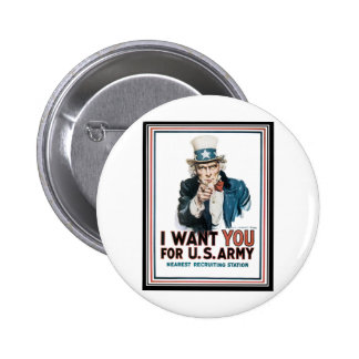 i want you pinback buttons