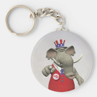I Want You - Think Red Vote Right Keychain