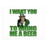 I Want You to Bring Me a Beer Postcard