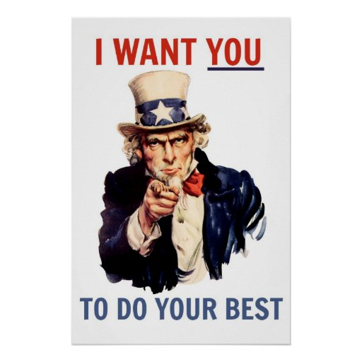 I Want You to Do Your Best Poster