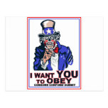 I Want You to OBEY! Postcard
