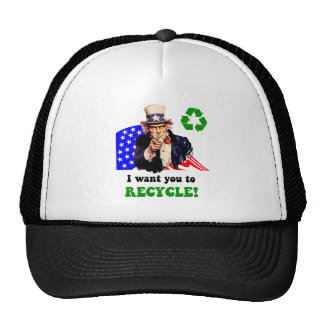 I want you to recycle! cap