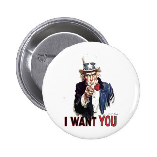 I Want You (Uncle Sam) 6 Cm Round Badge