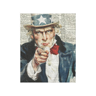 I Want You Uncle Sam Gallery Wrapped Canvas