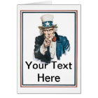 I Want You Uncle Sam Customise Your Text Card