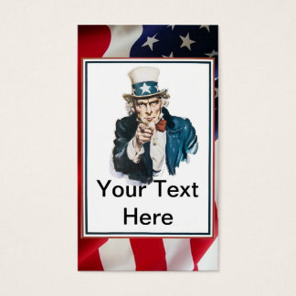 I Want You Uncle Sam Customize Your Text Business Card