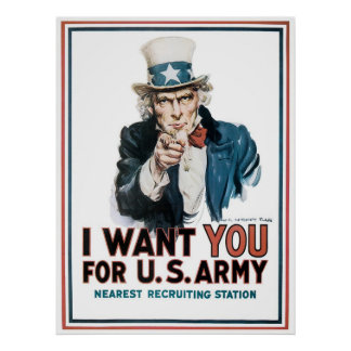 I Want You ~ Uncle Sam Poster